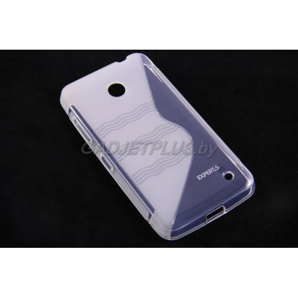 для Nokia Lumia 630 чехол-накладка силиконовый Experts TPU Case прозрачный