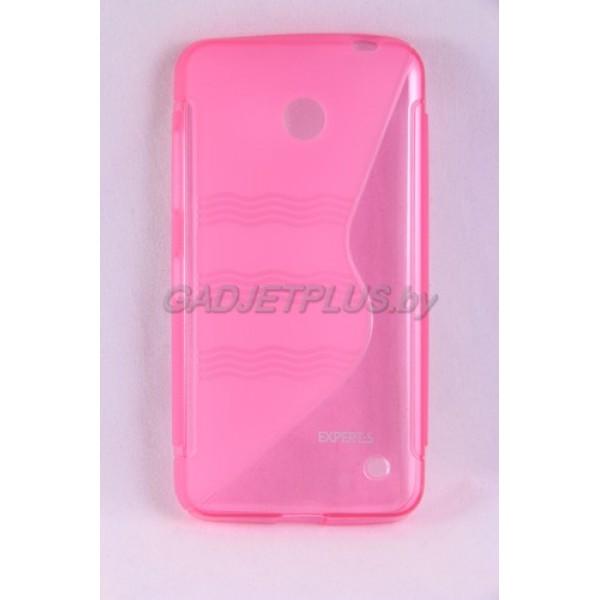 для Nokia Lumia 630 чехол-накладка силиконовый Experts TPU Case розовый