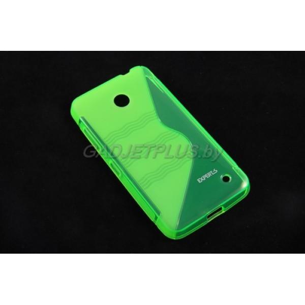 для Nokia Lumia 630 чехол-накладка силиконовый Experts TPU Case зеленый