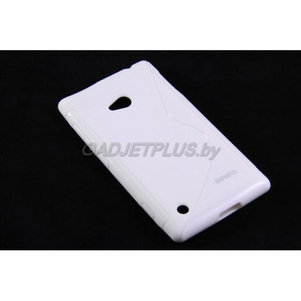 для Nokia Lumia 720 чехол-накладка силиконовый Experts TPU Case белый