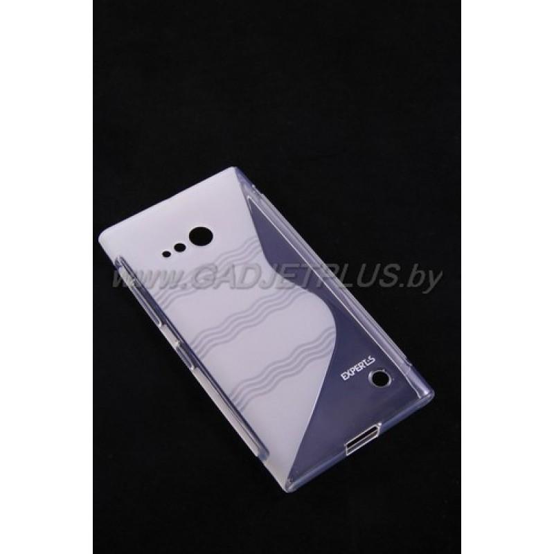 для Nokia Lumia 730 / 735 чехол-накладка силиконовый Experts TPU Case прозрачный