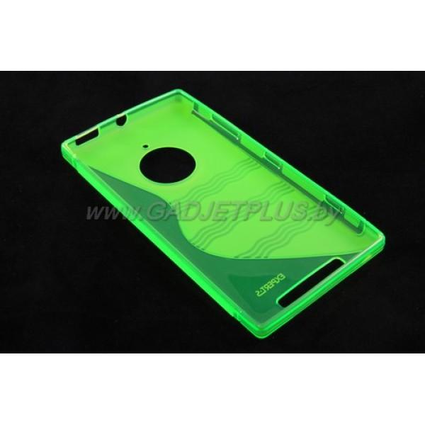 для Nokia Lumia 830 чехол-накладка силиконовый Experts TPU Case зелёный