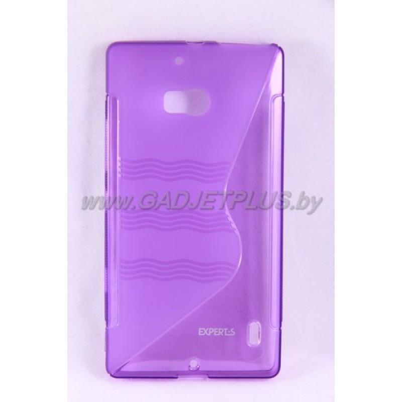 для Nokia Lumia 930 чехол-накладка силиконовый Experts TPU Case фиолетовый