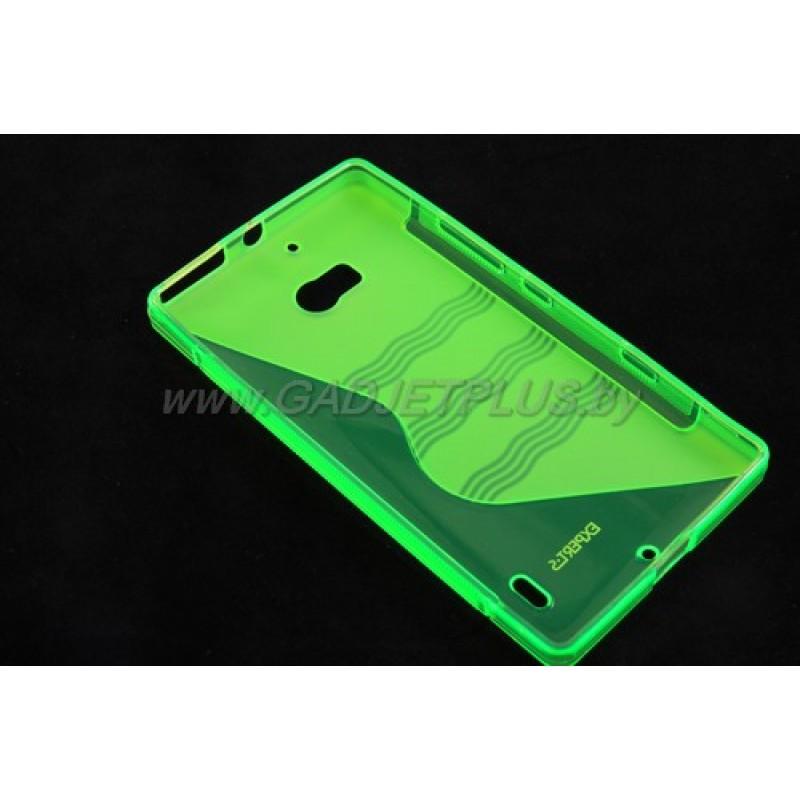 для Nokia Lumia 930 чехол-накладка силиконовый Experts TPU Case зелёный