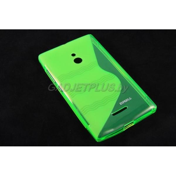 для Nokia XL чехол-накладка силиконовый Experts TPU Case зеленый