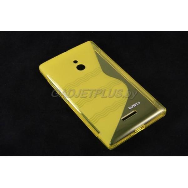 для Nokia XL чехол-накладка силиконовый Experts TPU Case желтый