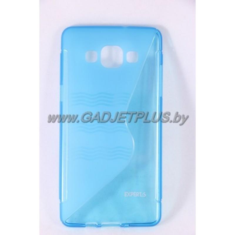 для Samsung Galaxy A5 SM-A500F чехол-накладка силиконовый Experts TPU Case голубой