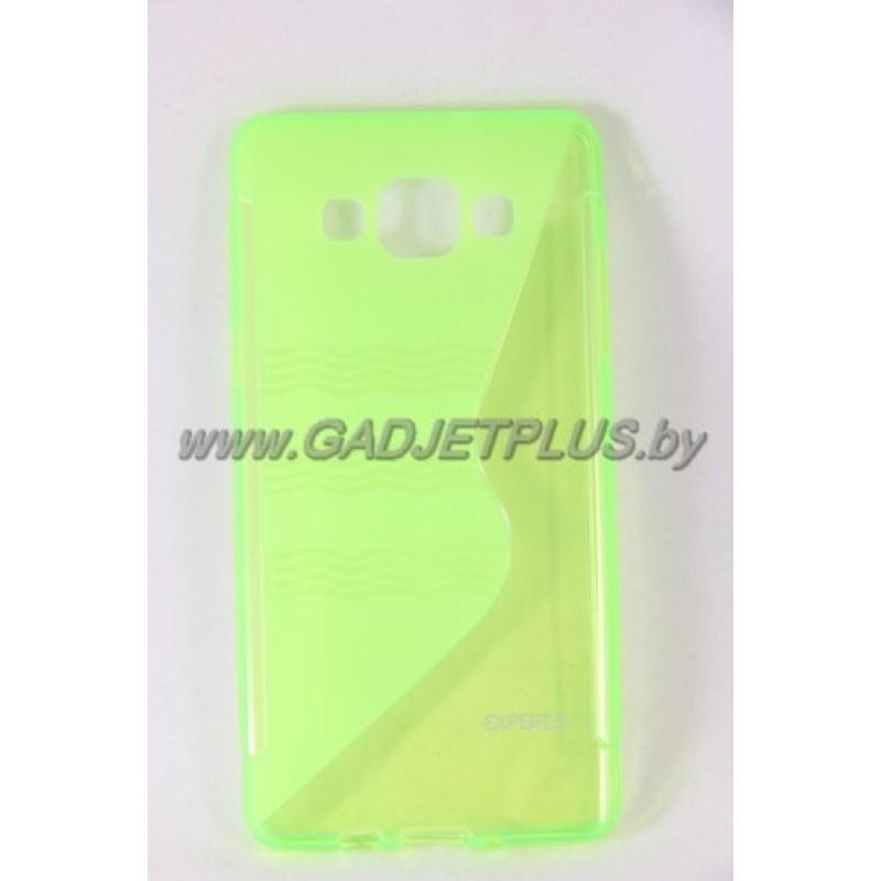 для Samsung Galaxy A5 SM-A500F чехол-накладка силиконовый Experts TPU Case зелёный