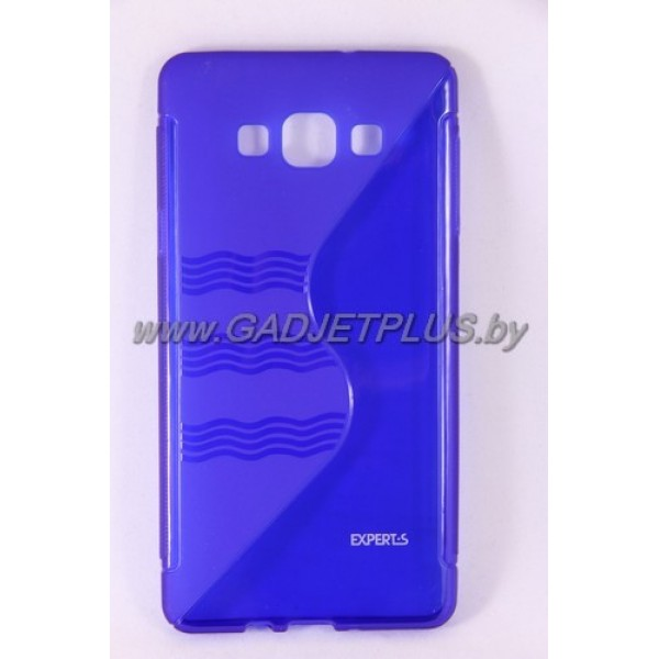 для Samsung Galaxy A7 SM-A700F чехол-накладка силиконовый Experts TPU Case синий