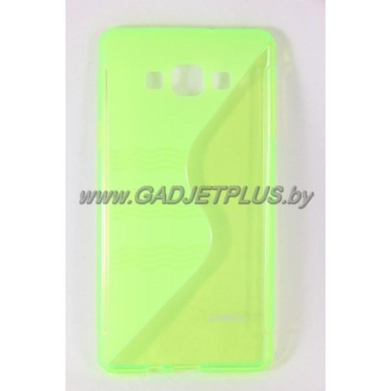 для Samsung Galaxy A7 SM-A700F чехол-накладка силиконовый Experts TPU Case зелёный