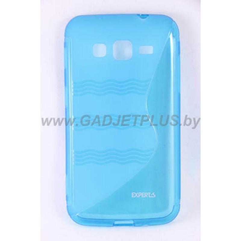 для Samsung Galaxy Core Advance (i8580) чехол-накладка силиконовый Experts TPU Case голубой