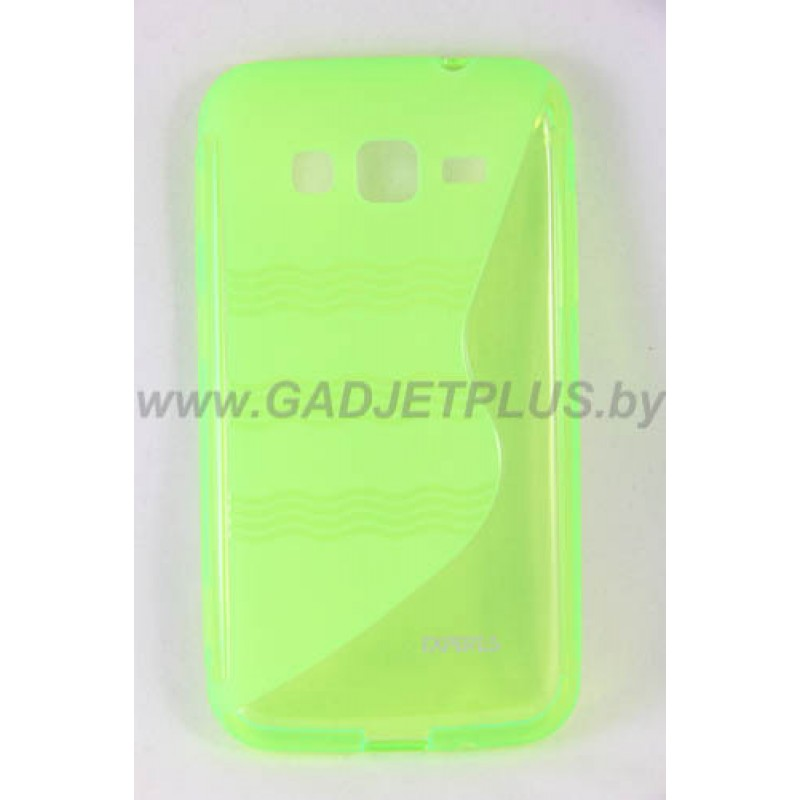 для Samsung Galaxy Core Advance (i8580) чехол-накладка силиконовый Experts TPU Case зеленый