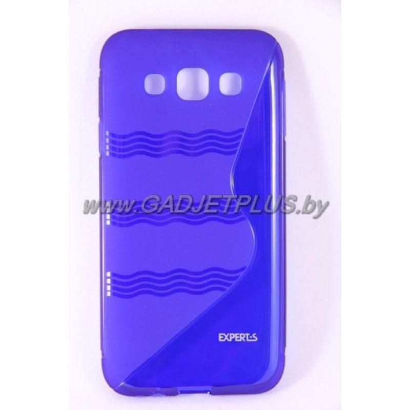 для Samsung Galaxy E5 SM-E500F чехол-накладка силиконовый Experts TPU Case синий