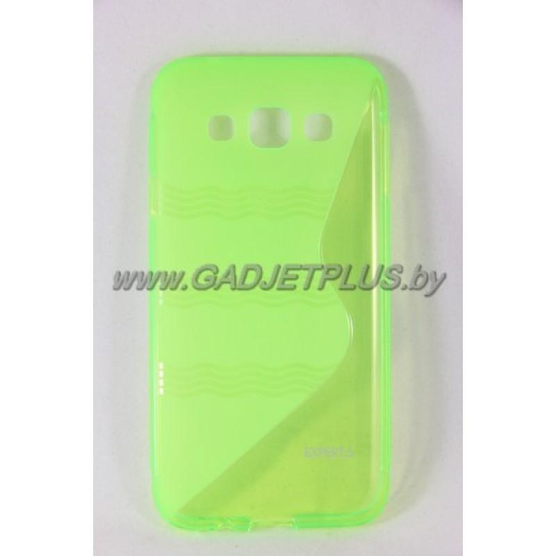 для Samsung Galaxy E5 SM-E500F чехол-накладка силиконовый Experts TPU Case зелёный