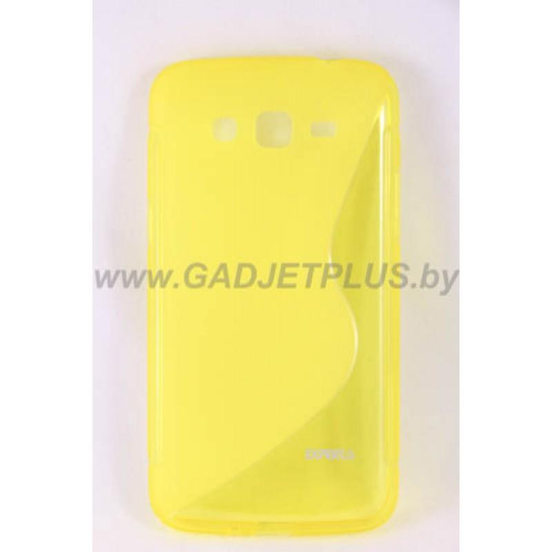 для Samsung Galaxy Grand 2 (G7106) чехол-накладка силиконовый Experts TPU Case желтый