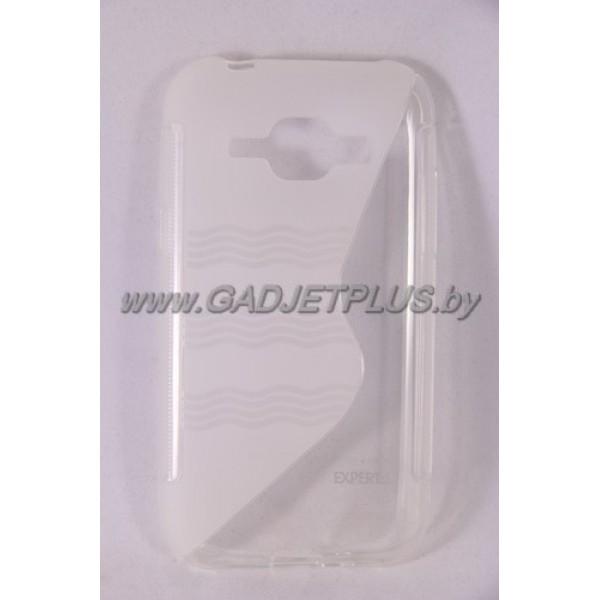 для Samsung Galaxy J1 SM-J100 чехол-накладка силиконовый Experts TPU Case прозрачный