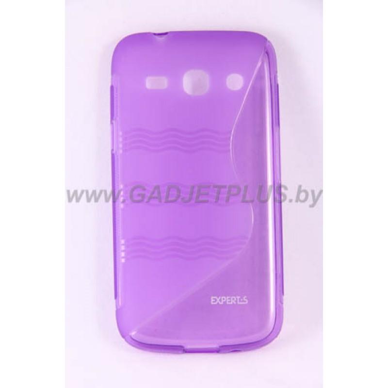 для Samsung Galaxy Star Advance (G350E) чехол-накладка силиконовый Experts TPU Case фиолетовый