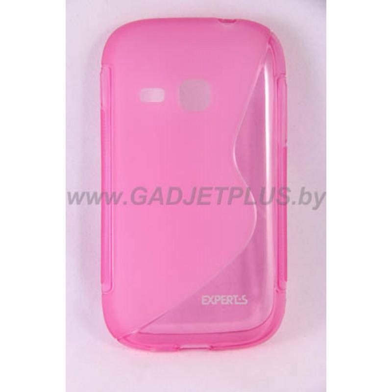 для Samsung Galaxy Young (S6310) чехол-накладка силиконовый Experts TPU Case розовый