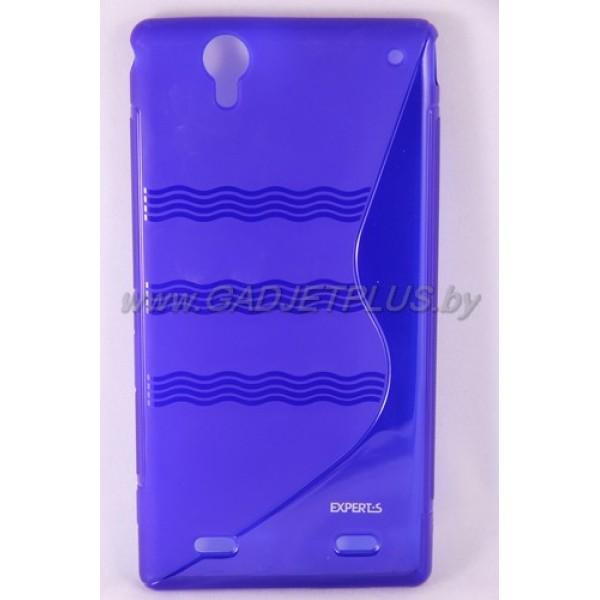 Sony Xperia T2 Ultra чехол-бампер силиконовый Experts TPU CASE, синий