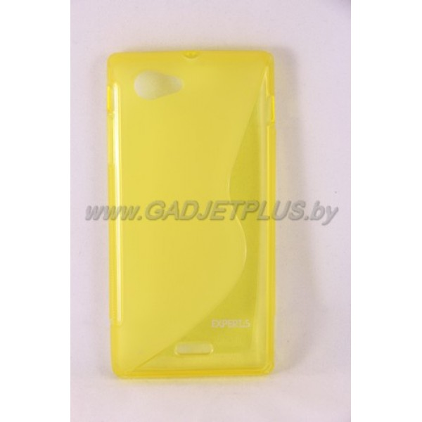 "Sony Xperia J ST26i чехол-бампер силиконовый Experts ""TPU CASE"", жёлтый"