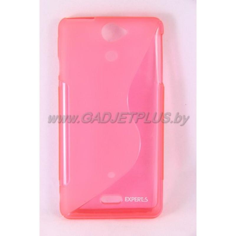 "Sony Xperia V LT25i чехол-бампер силиконовый Experts ""TPU CASE"", розовый"