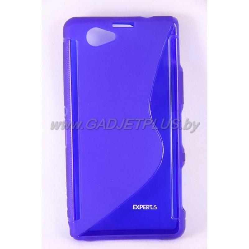 Sony Xperia Z1 Compact (D5503) чехол-бампер силиконовый Experts TPU CASE, синий