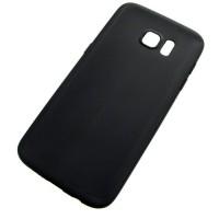 для Samsung Galaxy S7 Edge Матовый ультратонкий силиконовый чехол-накладка GADJET+ черный
