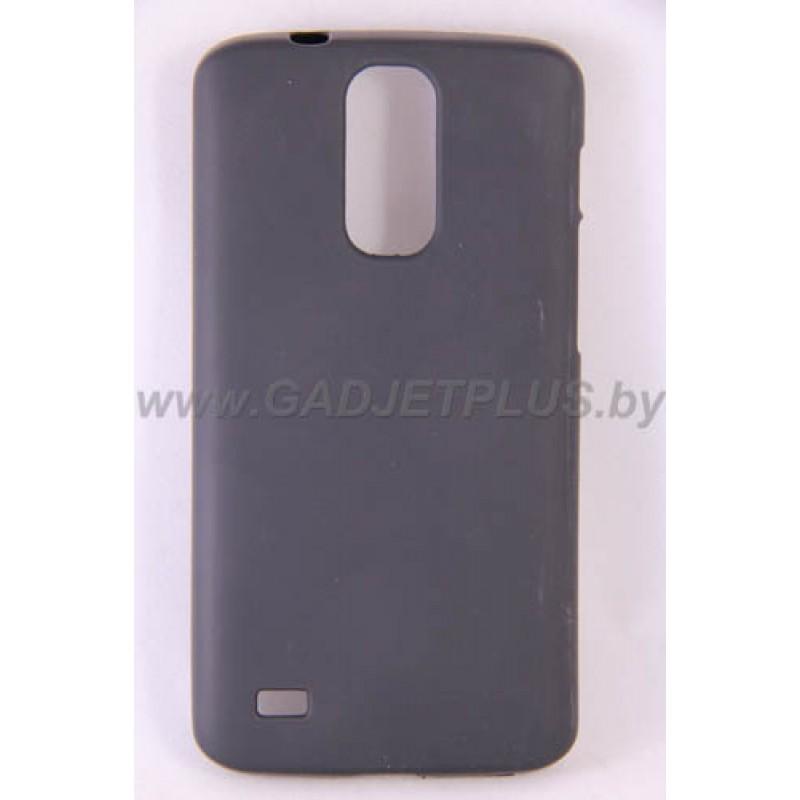 для Huawei Ascend G730 силиконовый чехол-бампер JUST матовый черный