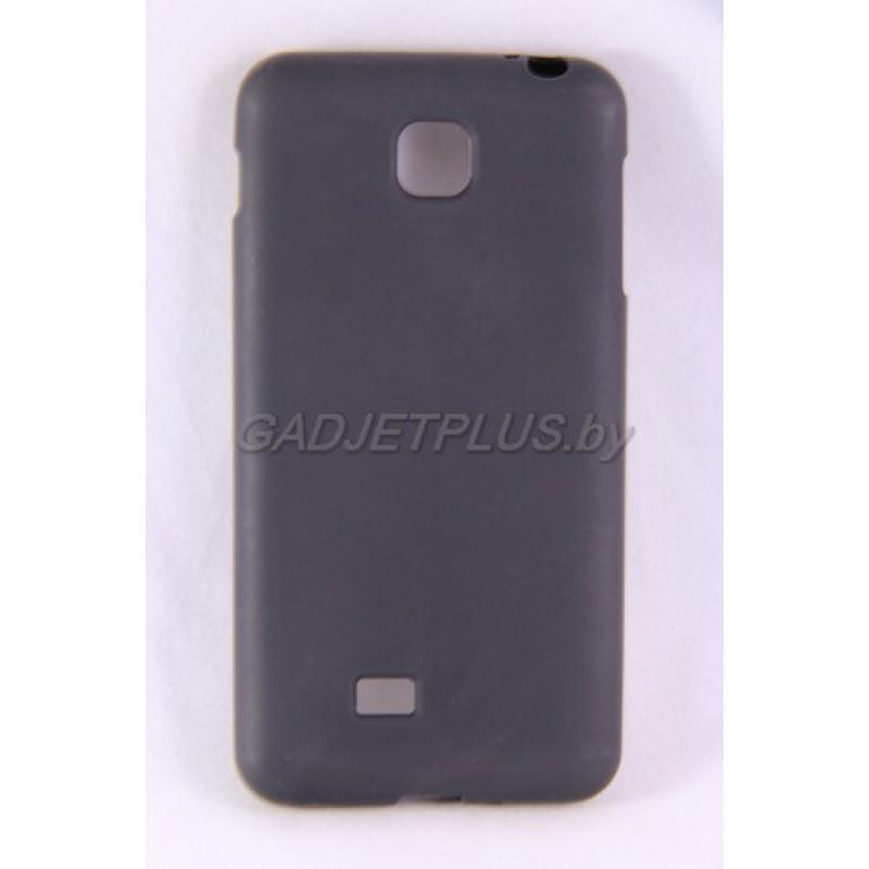 для LG Optimus F5 (P875) чехол-накладка силиконовый JUST, чёрный матовый