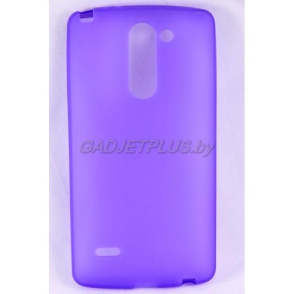 для LG G3 Stylus D690 чехол-накладка силиконовый JUST , фиолетовый матовый