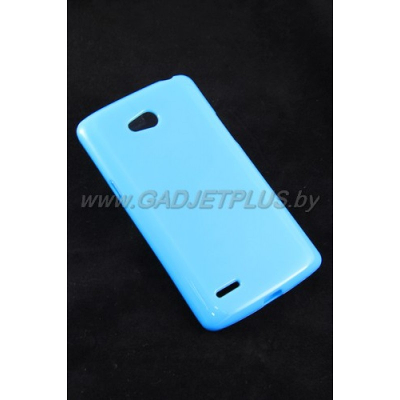 LG L80 D380 чехол-накладка силиконовый JUST , голубой глянцевый