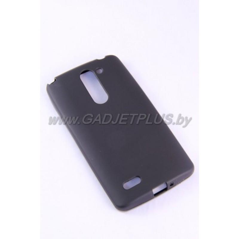 LG L Fino D295 чехол-накладка силиконовый JUST , чёрный матовый