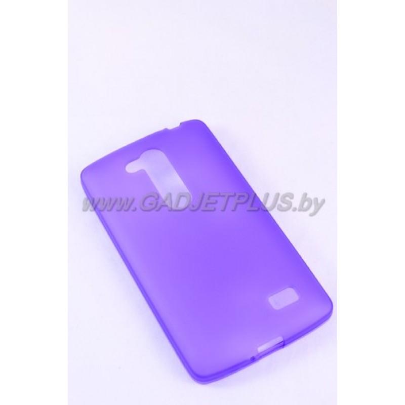 LG L Fino D295 чехол-накладка силиконовый JUST , фиолетовый матовый