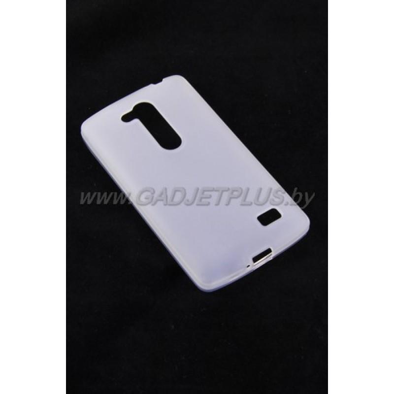 LG L Fino D295 чехол-накладка силиконовый JUST , белый матовый