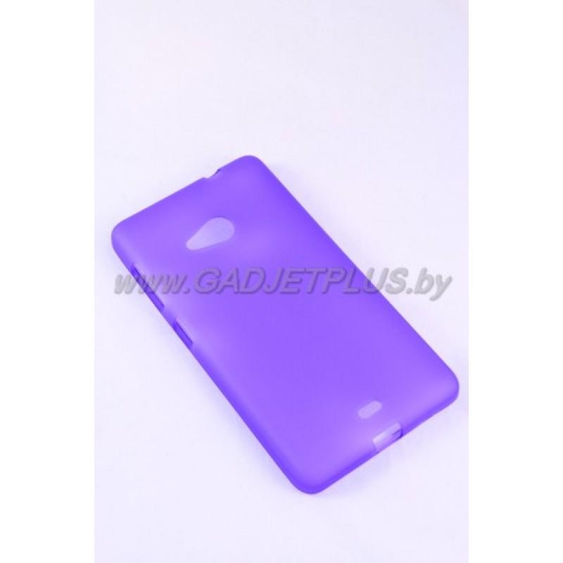 для Nokia Lumia 535 силиконовый чехол-бампер JUST матовый фиолетовый