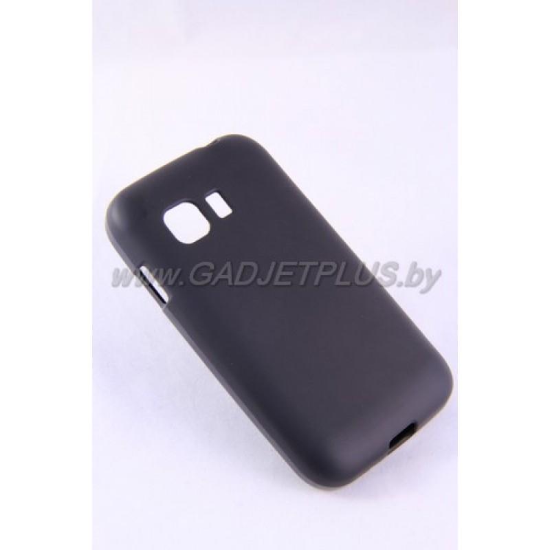 для Samsung G130 Galaxy Young 2 чехол-накладка силиконовый JUST, чёрный матовый