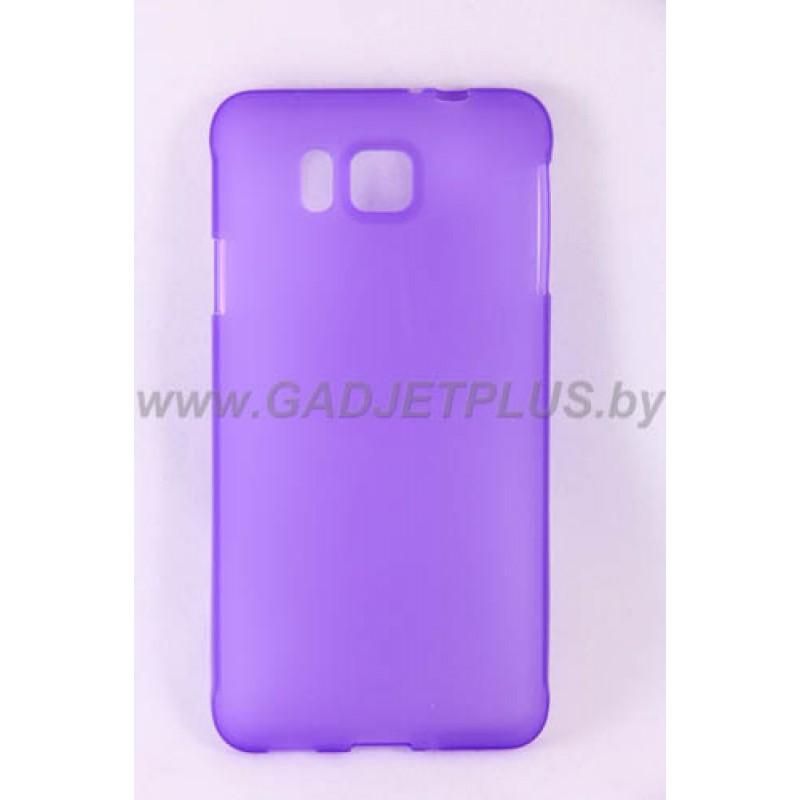 для Samsung Galaxy Alpha (G850F) силиконовый чехол-бампер JUST матовый фиолетовый