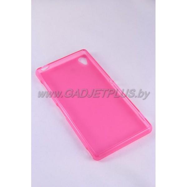 для Sony Xperia Z3 (D6603) силиконовый чехол-бампер JUST матовый розовый