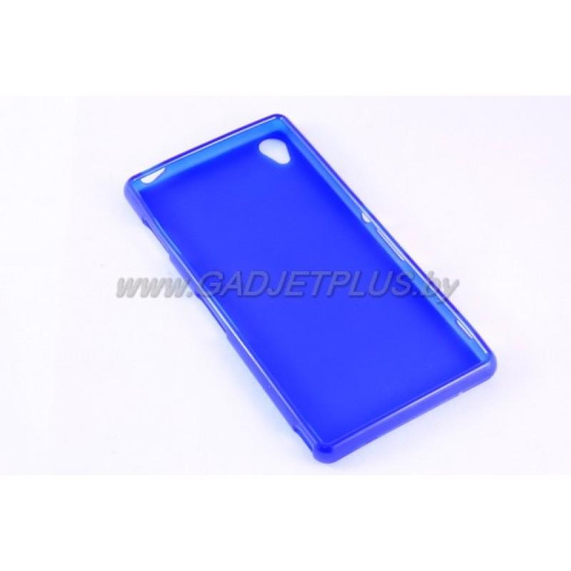 для Sony Xperia Z3 (D6603) силиконовый чехол-бампер JUST матовый синий