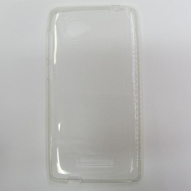 для Lenovo A880 Ультратонкий силиконовый чехол-накладка 0.5mm Just Slim прозрачный