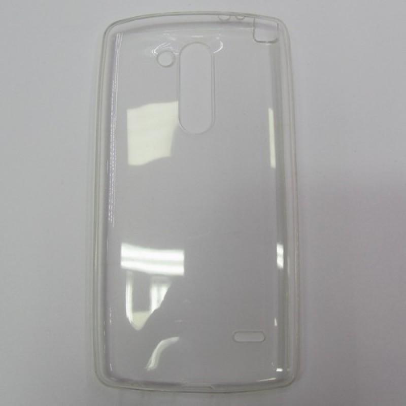 для LG G3 Stylus / D690 Ультратонкий силиконовый чехол-накладка 0.5mm Just Slim прозрачный
