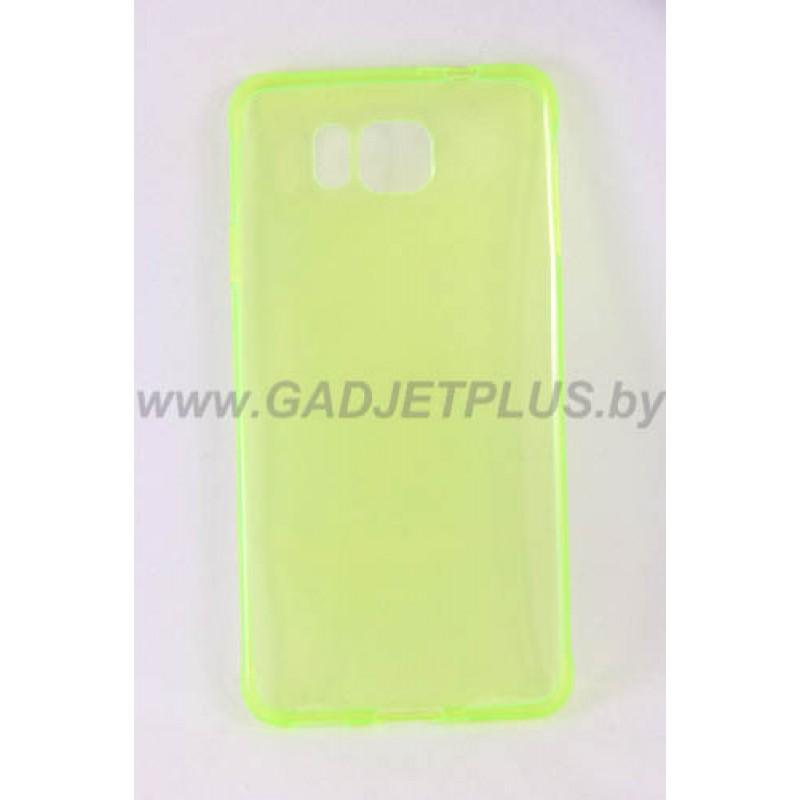 для Samsung Galaxy Alpha (G850F) Ультратонкий силиконовый чехол-накладка 0.5mm Just Slim желтый