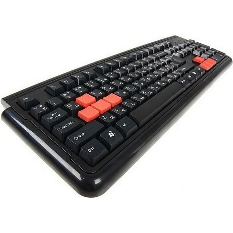 Игровая клавиатура со сменными красными кнопками A4Tech X7-G300 USB