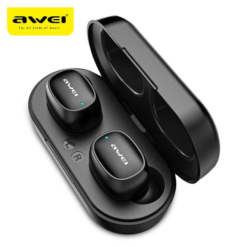 Беспроводные наушники Awei T13, Bluetooth гарнитура, цвет черный