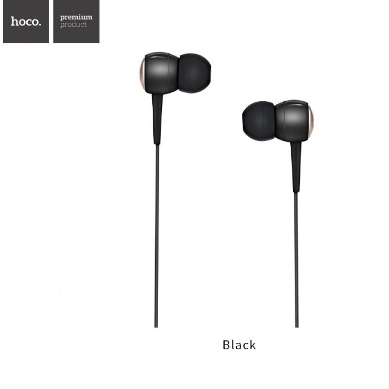 Hoco M19 проводная гарнитура для телефона цвет черный