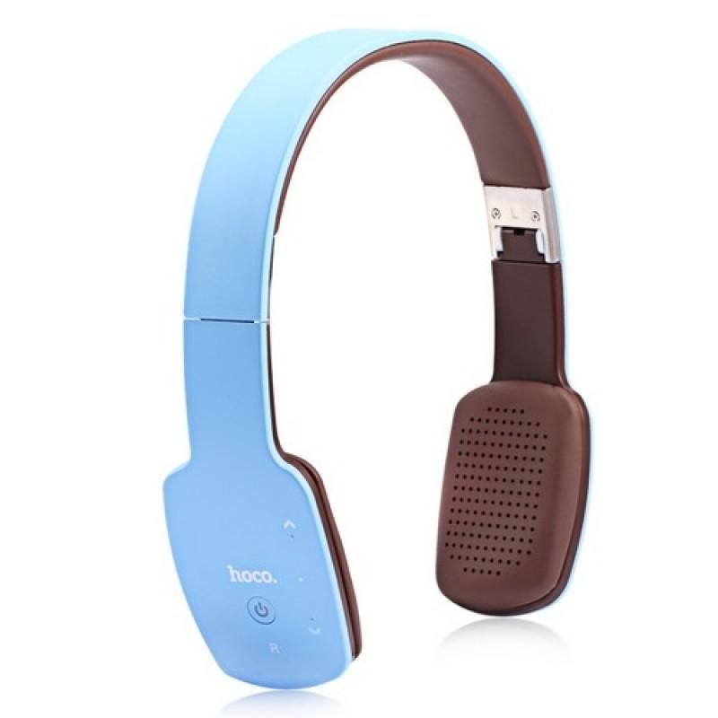 Hoco W4 беспроводная Bluetooth V4.0 гарнитура цвет голубой