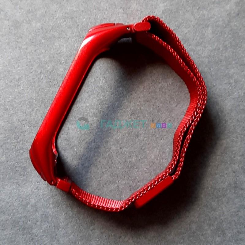 Стальной ремешок для Xiaomi Mi Band 4, цвет 7, красный