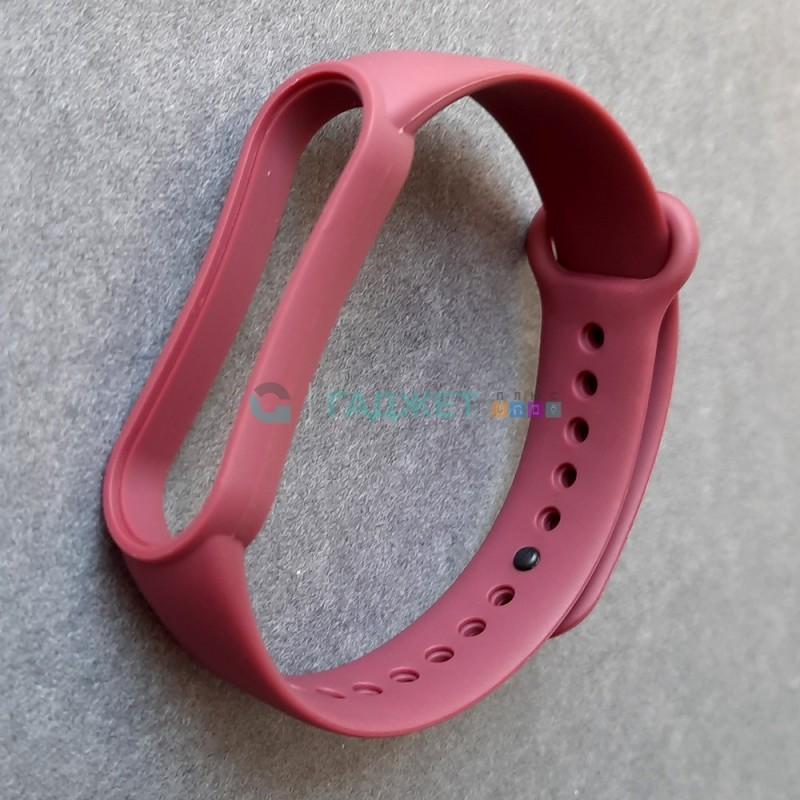Силиконовый браслет для Xiaomi Mi Band 5, бордовый