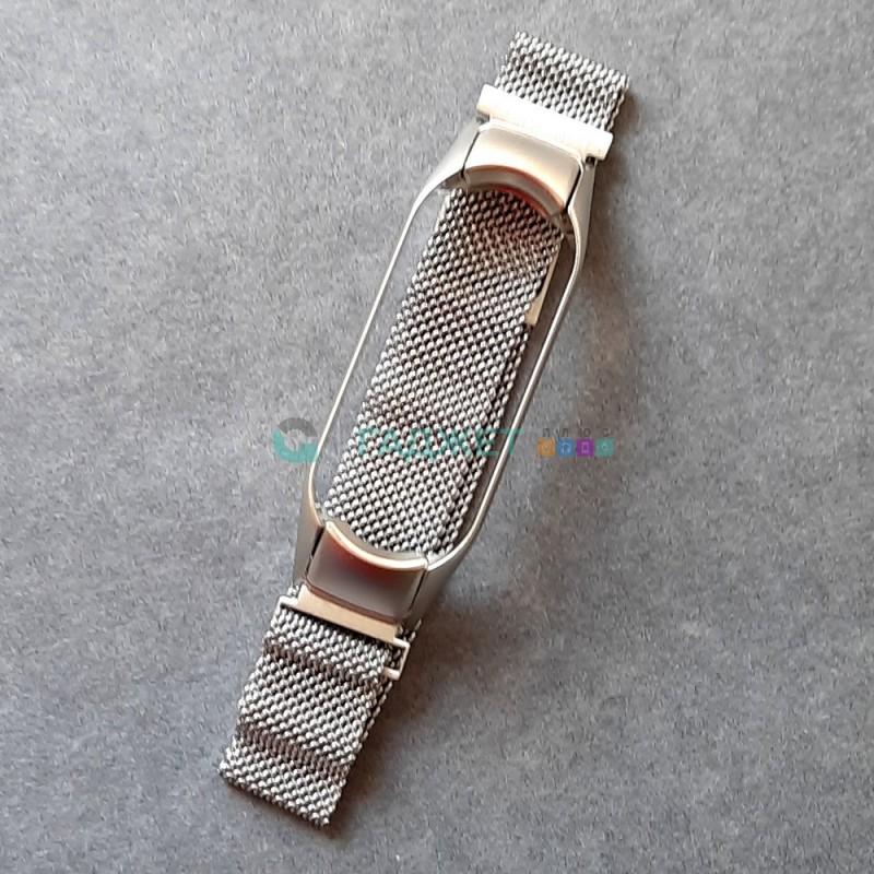 Стальной ремешок для Xiaomi Mi Band 5, цвет 1, серебро