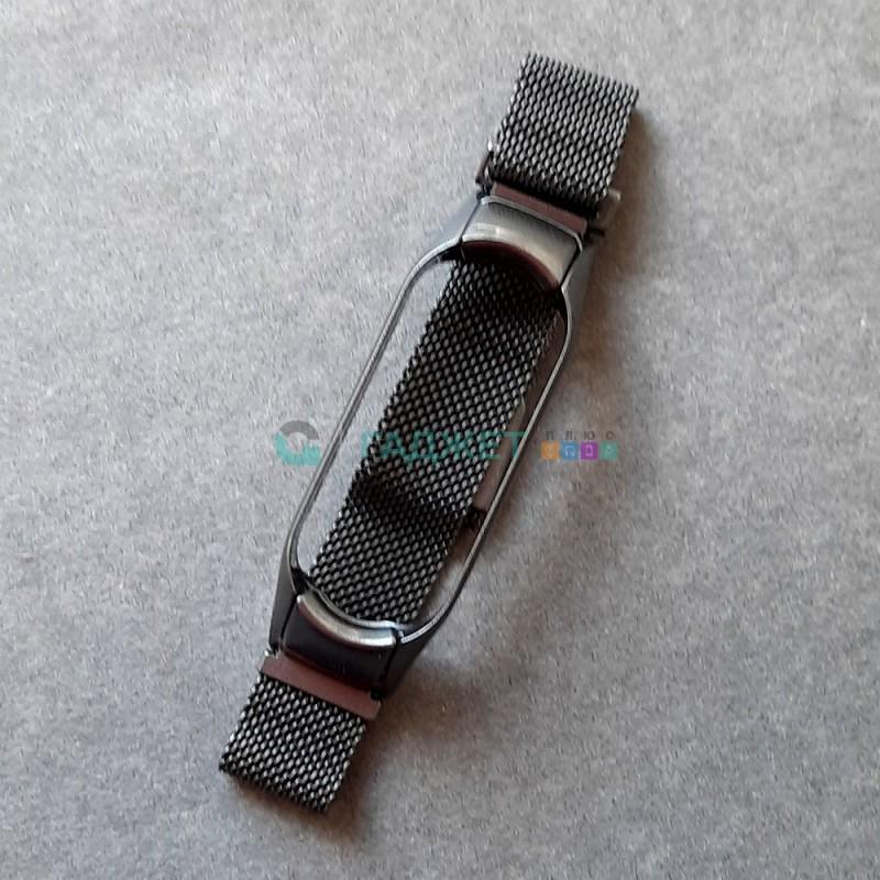 Стальной ремешок для Xiaomi Mi Band 5, цвет 14, угольно-серый